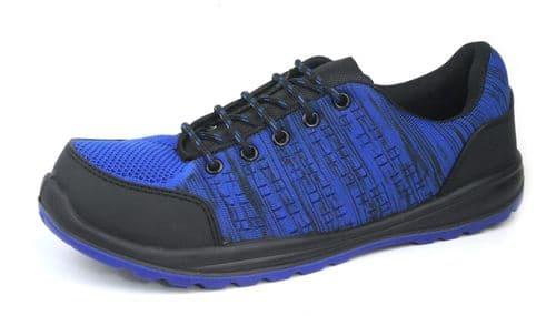 Hard Edge 2829 Safety / Work Black Blue Trainers